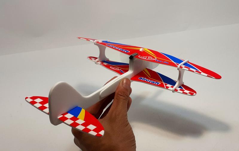 Літак з моторчиком Yan Jie Aircraft Біплан планер метальний - фото 5
