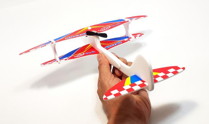 Літак з моторчиком Yan Jie Aircraft Біплан планер метальний - фото 6