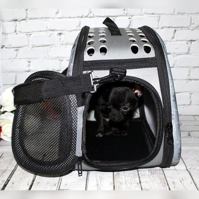 Сумка переноска Happy Paw для домашніх тварин Сірий (IBH005S) - фото 12
