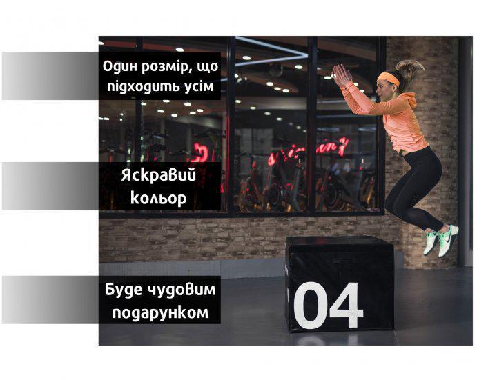 Повязка спортивная OSIAZHNYI оранжевый - фото 7