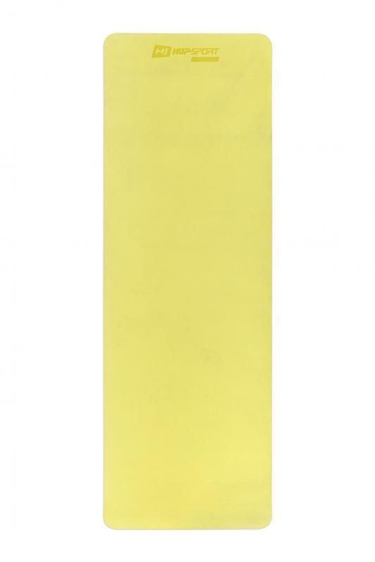 Килимок для фітнесу та йоги Hop-Sport HS-T006GM TPE 0,6 см Жовто-сірий - фото 9