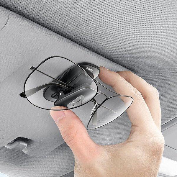 Тримач окулярів в машину Baseus Platinum Vehicle Eyewear Clip Чорний (ACYJN-A01) - фото 6