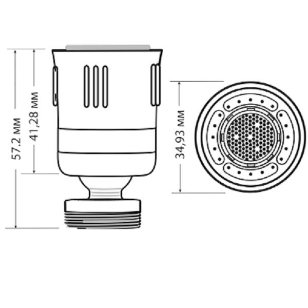 Аератор для кухонного змішувача Niagara Dual Spray з клапаном паузи 5,7 л/хв (N3126VP-C) - фото 2