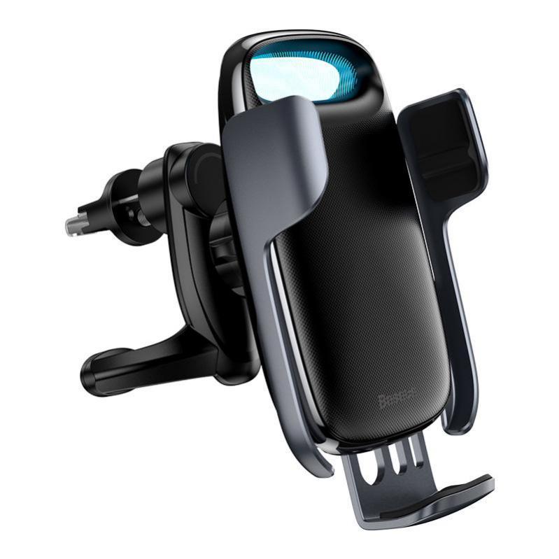 Автомобільний тримач Baseus Milky Way Electric Bracket Wireless Charger 15W Black - фото 1