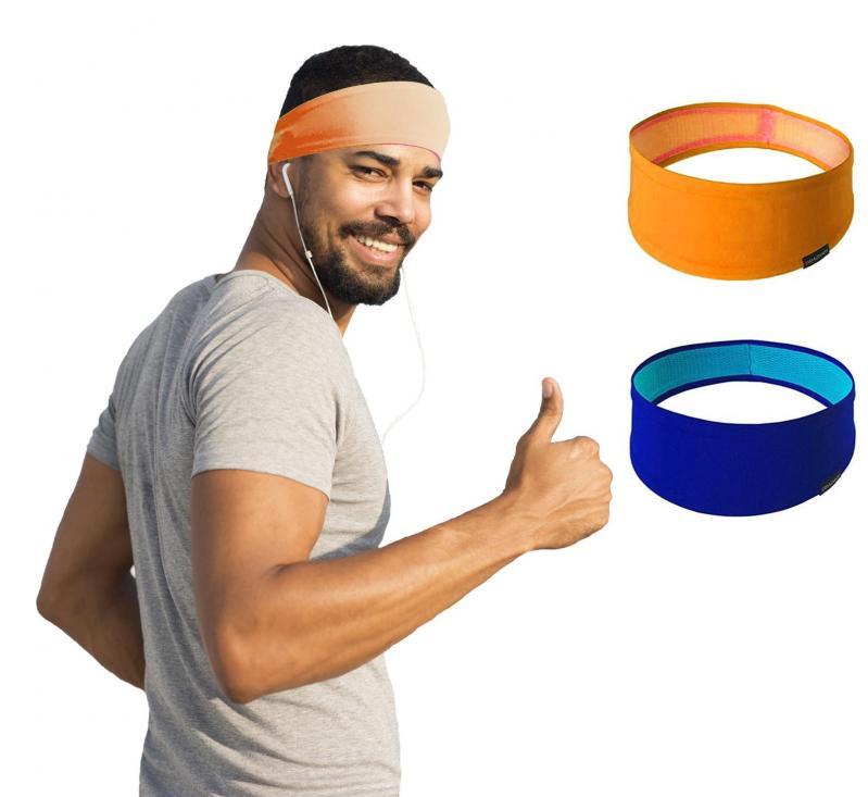 Набор спортивных повязок OSIAZHNYI 2 шт. Оранжевый/Синий - фото 2