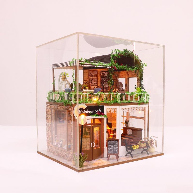 3D Румбокс CuteBee DIY DollHouse Радужне кафе (M92) - фото 3
