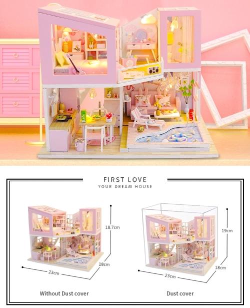 3D Румбокс CuteBee DIY DollHouse Перша любов (M915) - фото 7
