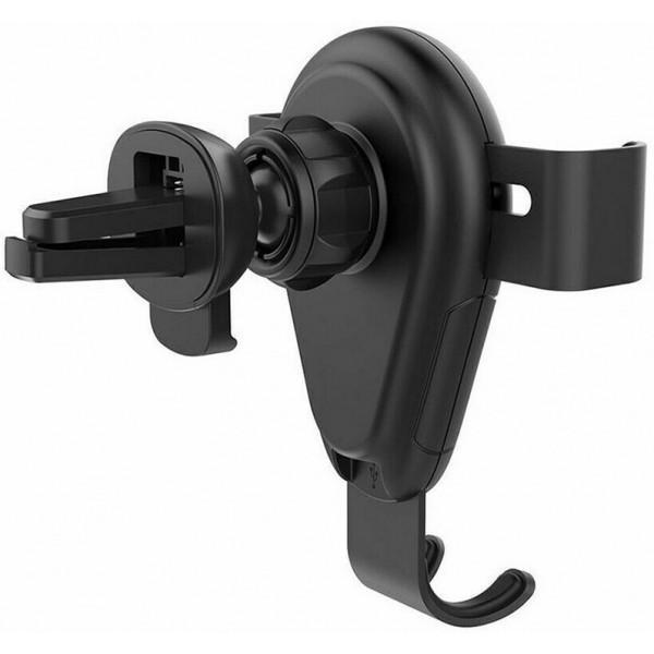 Тримач Awei CW3 Wireless Car Holder Black (F_109292) - фото 3