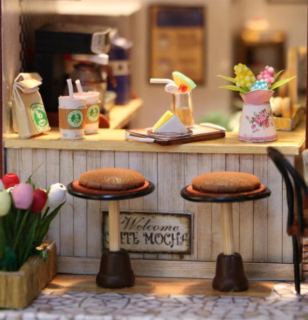 3D Румбокс CuteBee Coffee Time DIY DollHouse Кафе (V356SD) - фото 8
