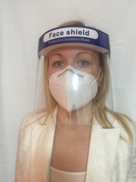 Защитный щиток для лица Face Shield 33х22см Прозрачный 5 шт - фото 3