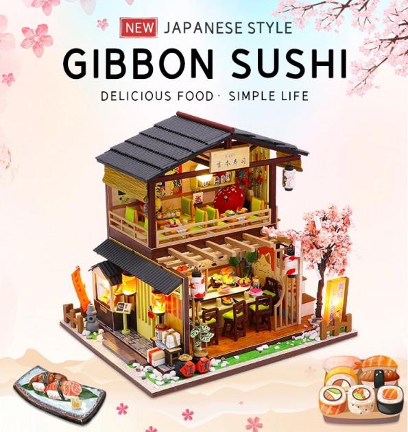 3D Румбокс CuteBee DIY DollHouse Суші-ресторан (G306) - фото 9