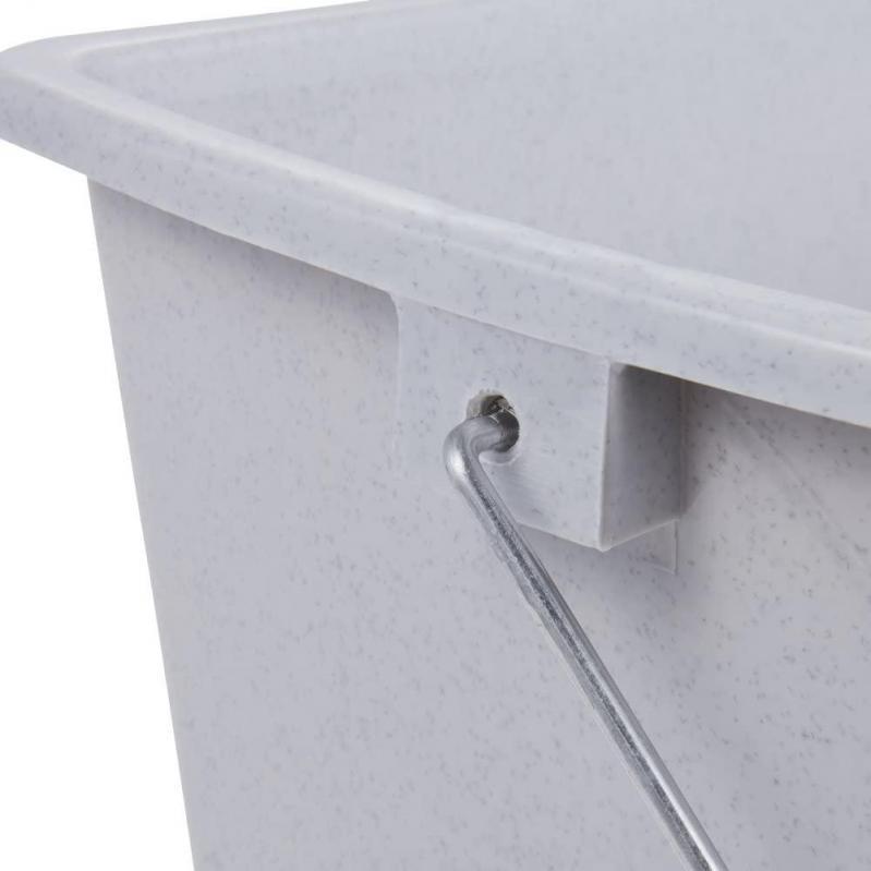 Ведро пластиковое Keeeper с металлической ручкой 44х22х22,5 см 13 л (KEE-0107) - фото 5