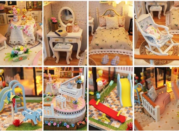 Будиночок ляльковий CuteBee Doll House Вілла (V787SD) - фото 4