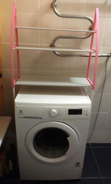 Стелаж підлоговий UKC WM-63 над пральною машиною 68х152 см Білий (9cea9cea) - фото 4
