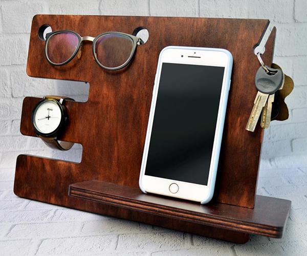Органайзер дерев'яний БРТ для телефону та сучасних дрібниць - фото 2