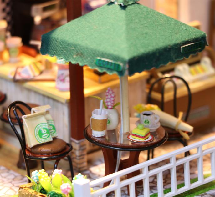 3D Румбокс CuteBee Coffee Time DIY DollHouse Кафе (V356SD) - фото 6
