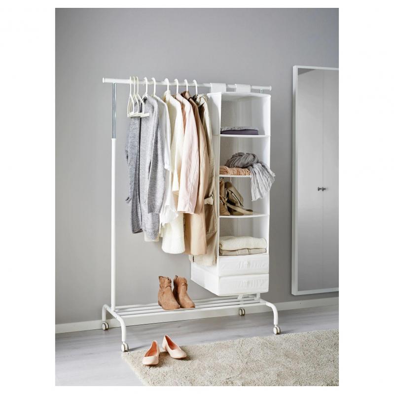 Стойка для одежды IKEA RIGGA 502.316.30 Белый - фото 2