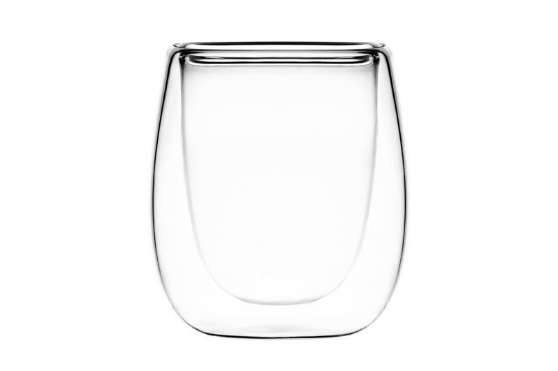 Набор чашек Ardesto с двойными стенками для эспрессо 80 мл 2 шт. Стекло (AR2608G) - фото 1