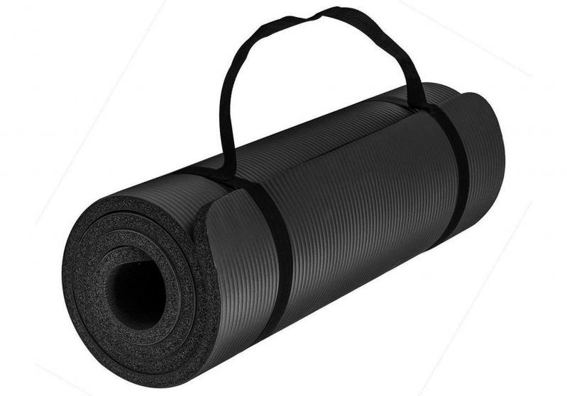 Килимок для йоги EasyFit NBR High-Density 10 мм Чорний (EF-NK10BK) - фото 1