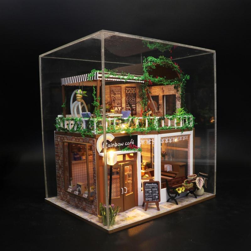 3D Румбокс CuteBee DIY DollHouse Радужне кафе (M92) - фото 4