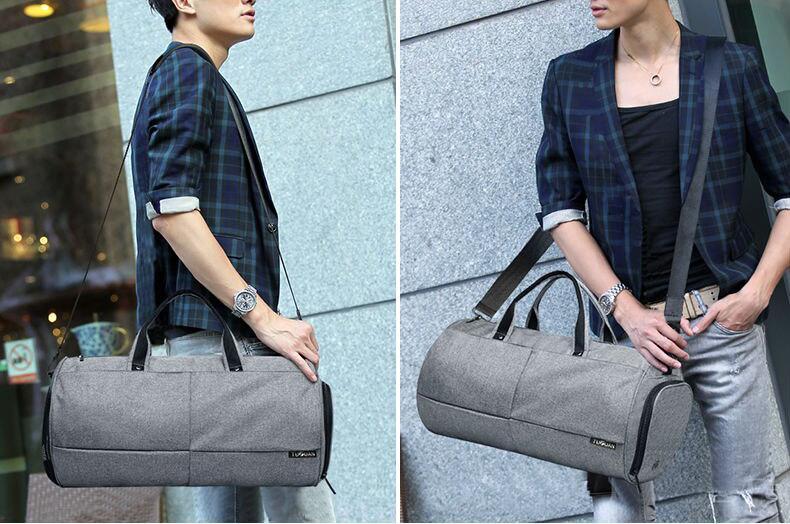 Спортивна сумка TuGuan 1698 з відділом для взуття Сірий - фото 4