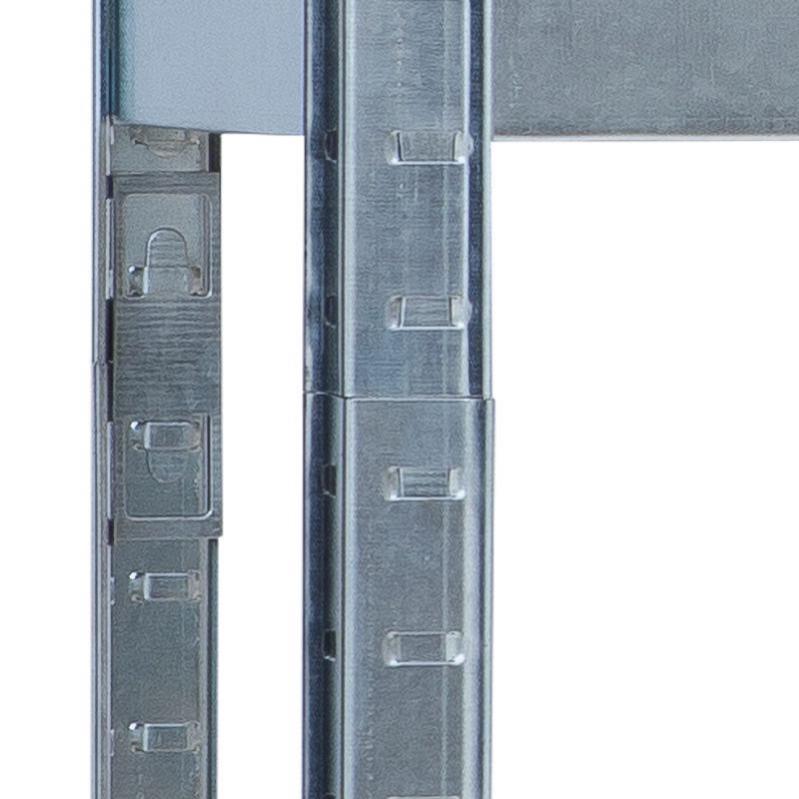 Стелаж металевий Kontrast HD5000 180x90x40 см Сріблястий - фото 3