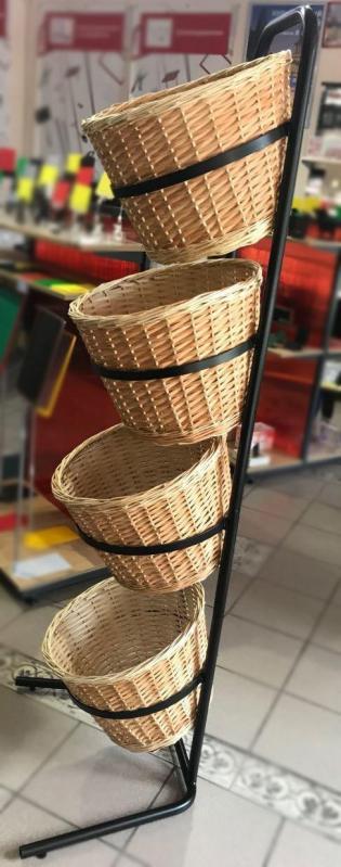 Стійка-стелаж з кошиками для продуктів - фото 3