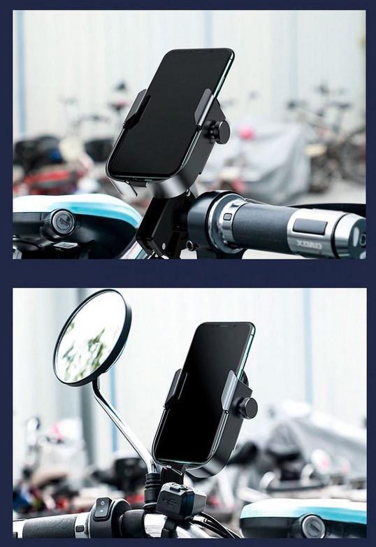 Тримач для мобільного телефона Baseus Armor Motorcycle holder Чорний (SUKJA-01) - фото 7