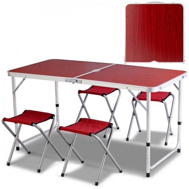 Набор мебели для пикника Folding table Коричневый (5464) - фото 3