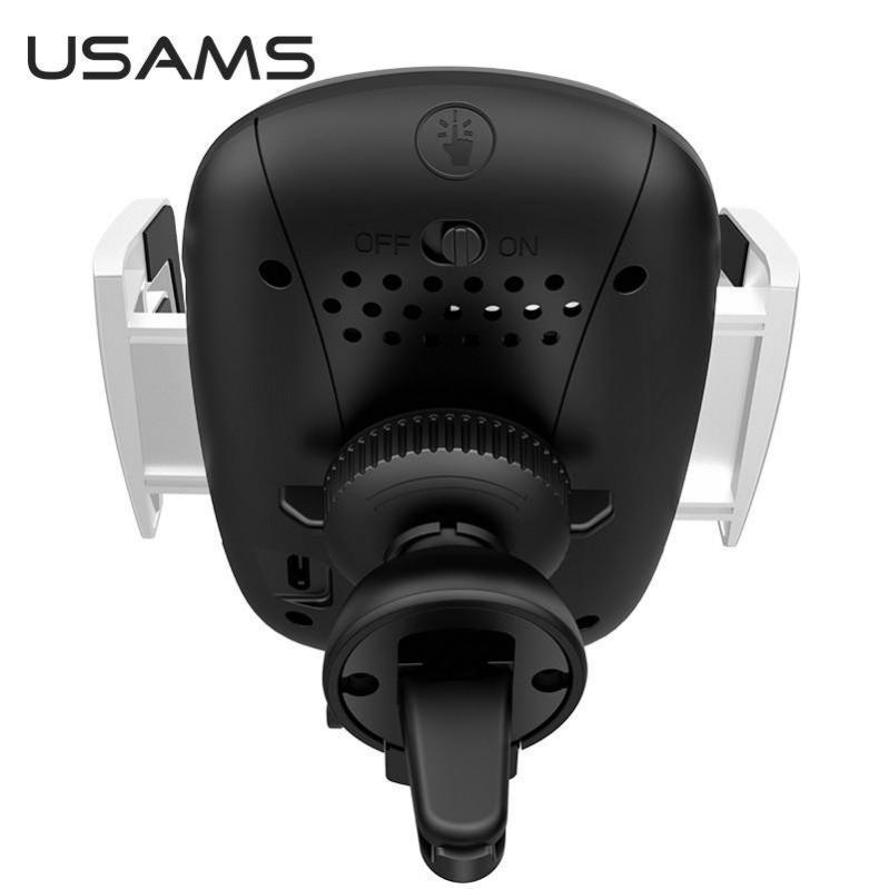 Автомобільний тримач на дефлектор з бездротовою зарядкою QI для телефона, смартфона USAMS US-CD100 - фото 2