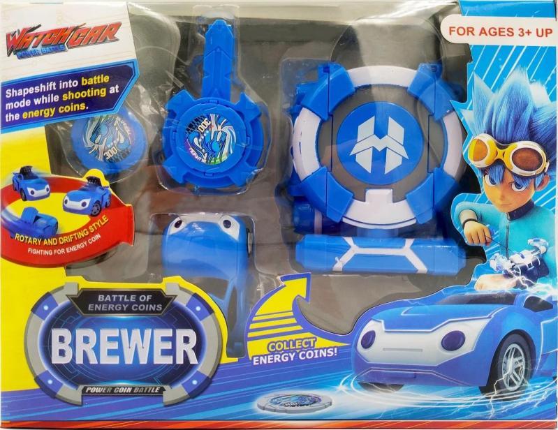 Іграшка Dabitoy Ліга Вотчкар машинка Блюввил і Джин та запускач WatchCar Синій - фото 3