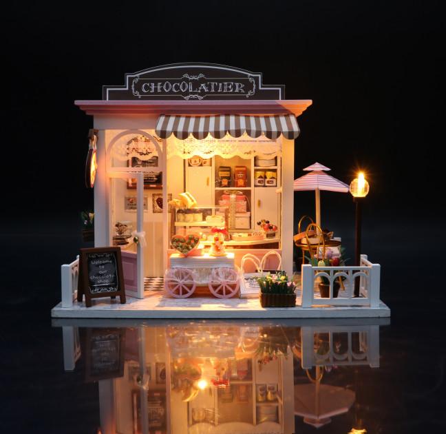 3D Румбокс CuteBee DIY DollHouse Шоколадниця (V358SD) - фото 3