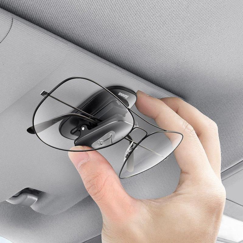 Автомобільний тримач для окулярів Baseus Platinum Vehicle Eyewear Clip Black (ACYJN-A01) - фото 7
