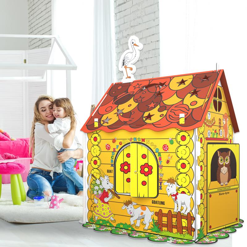Дитячий картонний будиночок розмальовка Kindom 110х98 см - фото 2