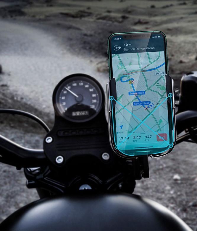 Тримач для мобільного телефона Baseus Armor Motorcycle holder Чорний (SUKJA-01) - фото 6