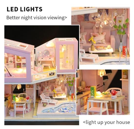 3D Румбокс CuteBee DIY DollHouse Перша любов (M915) - фото 8
