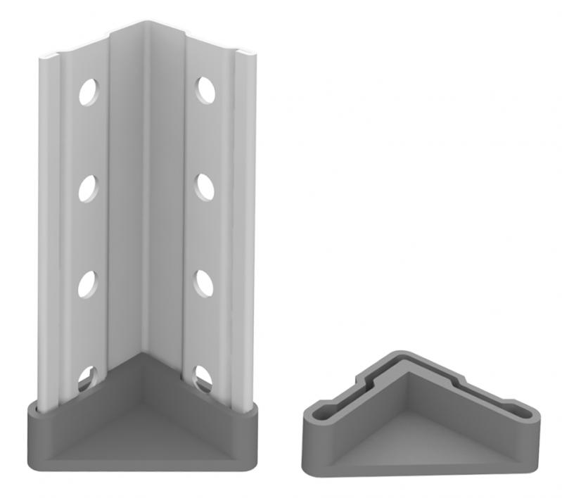 Стелаж металевий 2х100 кг/п 1000х700х500 мм на болтовому з'єднанні - фото 4