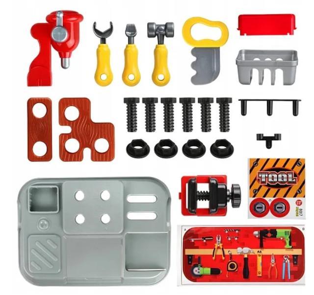 Ігровий дитячий набір інструментів Toy Tool Toy на 25 предметів в портативному рюкзаку (V152) - фото 5