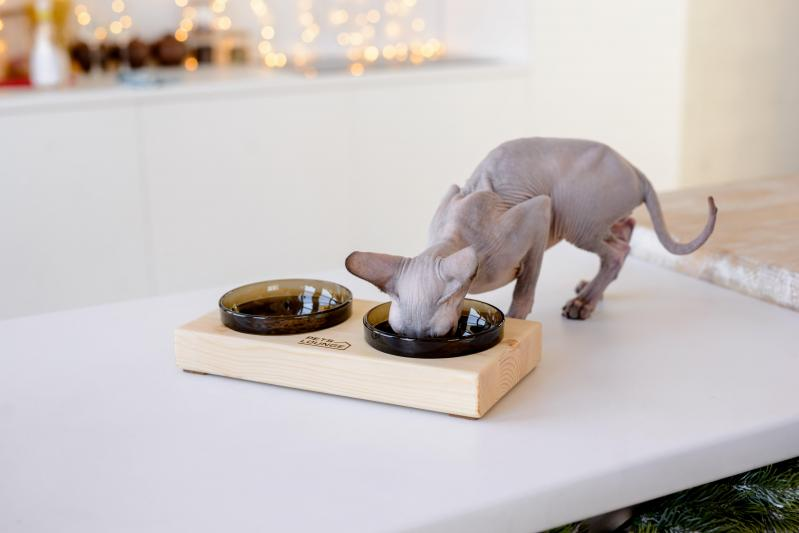 Підставка з мисками для собак і котів Pets Lounge 2х200 мл Black - фото 6