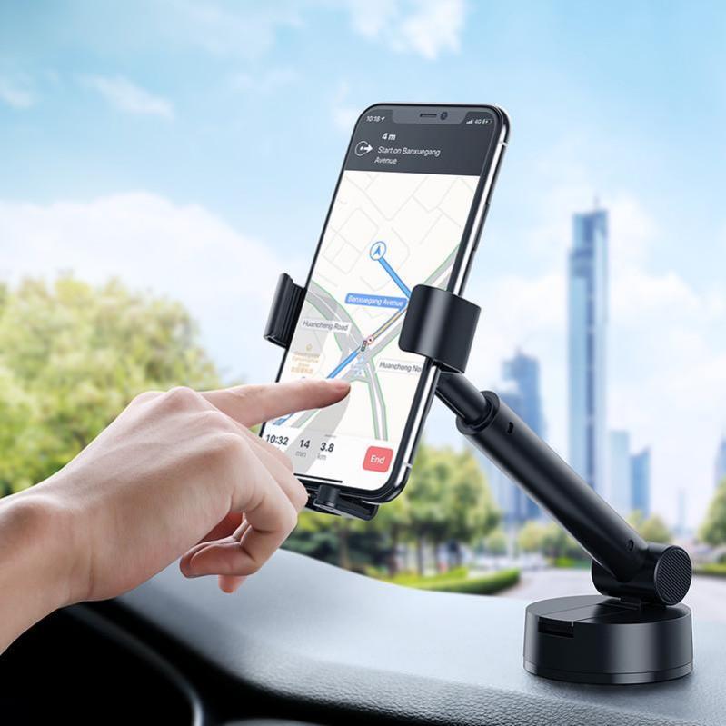 Тримач для телефону Baseus Simplism gravity car mount в машину Black - фото 2
