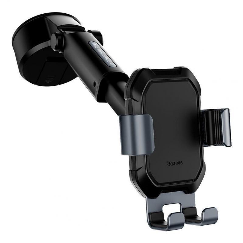Тримач для мобільного телефона Baseus Tank gravity car mount holder з присоскою Чорний (SUYL-TK01) - фото 2