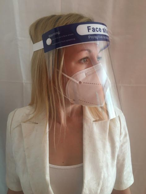 Защитный щиток для лица Face Shield 33х22см Прозрачный 5 шт - фото 2