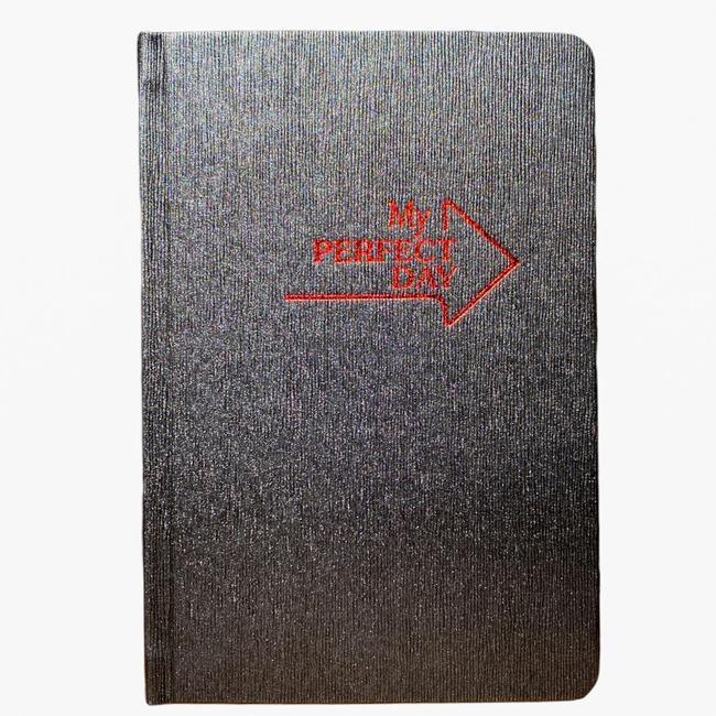 Планер-щоденник LifeFLUX My perfect day українська мова А5 Графітовий/Червоний - фото 1