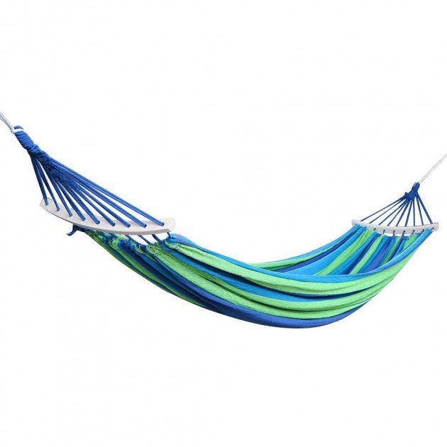 Гамак подвесной с каркасом и зонтом 240 х 100 Синий с зелёным - фото 8