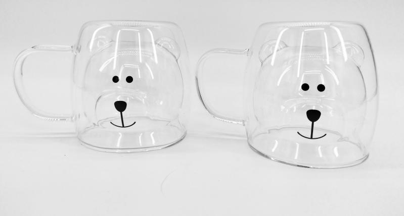 Набор чашек детских Ardesto Мишка c двойными стенками 2х250 мл (AR2625GHA) - фото 1