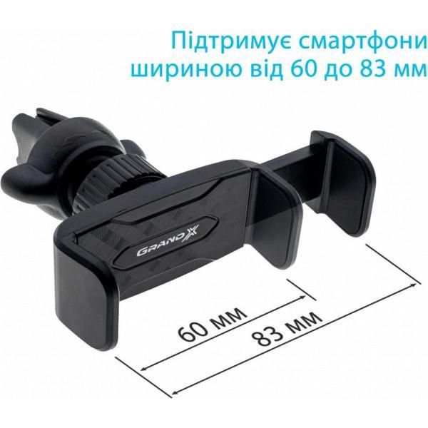 Тримач Grand-X Автотримач для смартфона Grand-X (кріплення на дефлектор) MT-08 - фото 4