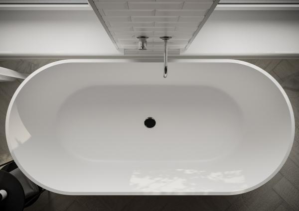 Ванна Грінланд з литого мармуру Білий - фото 3