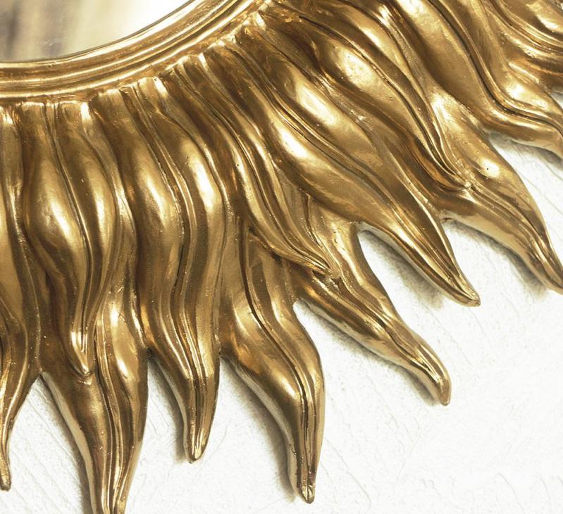 Зеркало настенное Гранд Презент Солнце 55 см Золотой (НД953) - фото 3