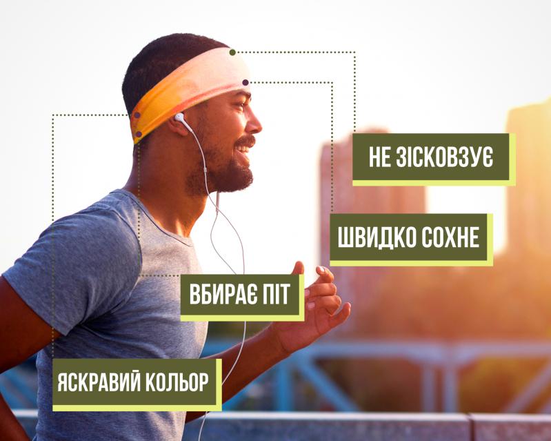 Набор спортивных повязок OSIAZHNYI 2 шт. Оранжевый/Синий - фото 5