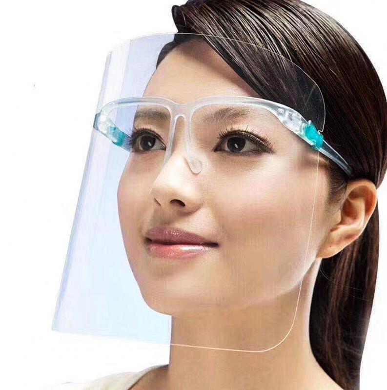 Защитный щиток для лица Face Shield Glasses со сложными скобками 165х195 мм Прозрачный 5 шт - фото 2